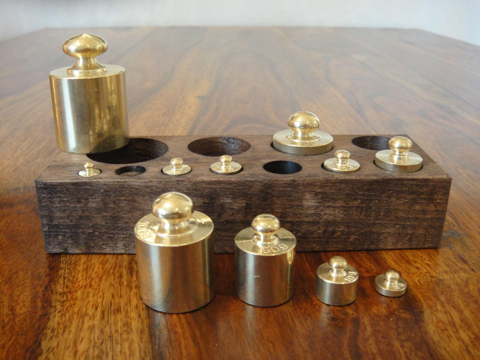 11 poids set laiton pour balance balance formaliser Charger balance gewichtssatz