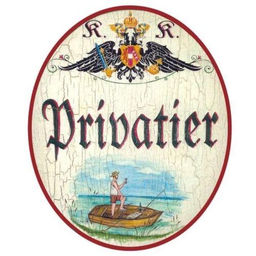 Privatier Türschild