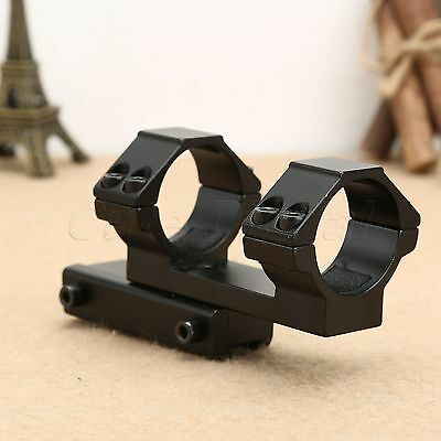 "Flat Top One Piece 30mm/1.2"" Dual Ring Scope Laser Mount with 11mm Dovetail Rail"
