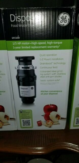 NEW GE Disposall 1//2 HP Continuous Feed Food Waste Disposer Disposal GFC525V