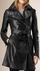 noir long Manteau pour vintage en Mac Mac cuir dames 8vd1wv