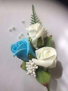 Image Is Loading Wedding Flowers 3 Ivory Amp Light Blue Wedding