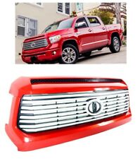 Platinum Style Front Center Radiator Grille 3R3 Barcelona Red Tundra 2014-2019
