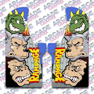 Details about  /Rampage World Tour Arcade Side Art Artwork Decal Overlay Sticker Vinyl Midway