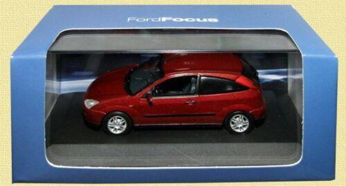 FORD FOCUS PHASE 1 1998 BORDEAUX MINICHAMPS 1//43 3 DOORS TROIS PORTES DARK RED
