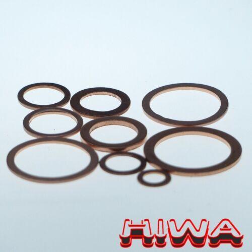 50x denso anillos 28x34x2 de cobre din 7603a