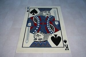 King Of Spades Rug Deck Of Cards King Spade 150cm X 100cm Novelty