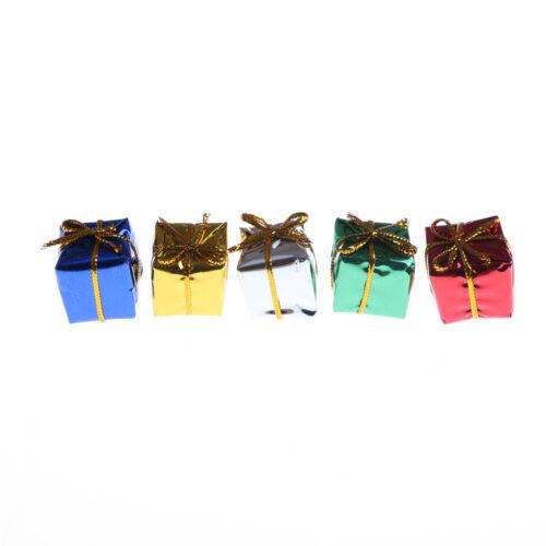 10X Dollhouse Miniature Box Christmas Dollhouse Decoration Gift Toy /_CH