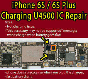 Iphone 6s 6s Plus U4500 U2 Ic Usb Not Charging Ic Draining Repair Service 1610a3 Ebay