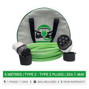 Charging cable for MG ZS. Charging cable, 32A 7.4kW charger, 5 metre cable & bag