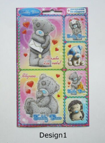 10x15cm Teddy Bear Stickers 4x6/'/'