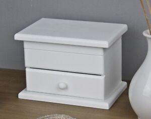 kommode klein tisch schmuckkommode antik holz wei landhaus schr nkchen 10x10x10 ebay. Black Bedroom Furniture Sets. Home Design Ideas