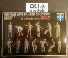 1/72 WWII German Panzer Soldiers Crew FIGURES SET - Orion 72045
