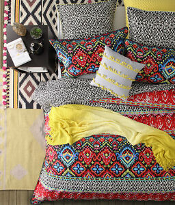 Logan And Mason Chilli Multi Mexican King Size Bed Doona