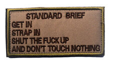 standard brief ARMY MORALE BADGE TACTICAL MILITARY PATCHES PATCH