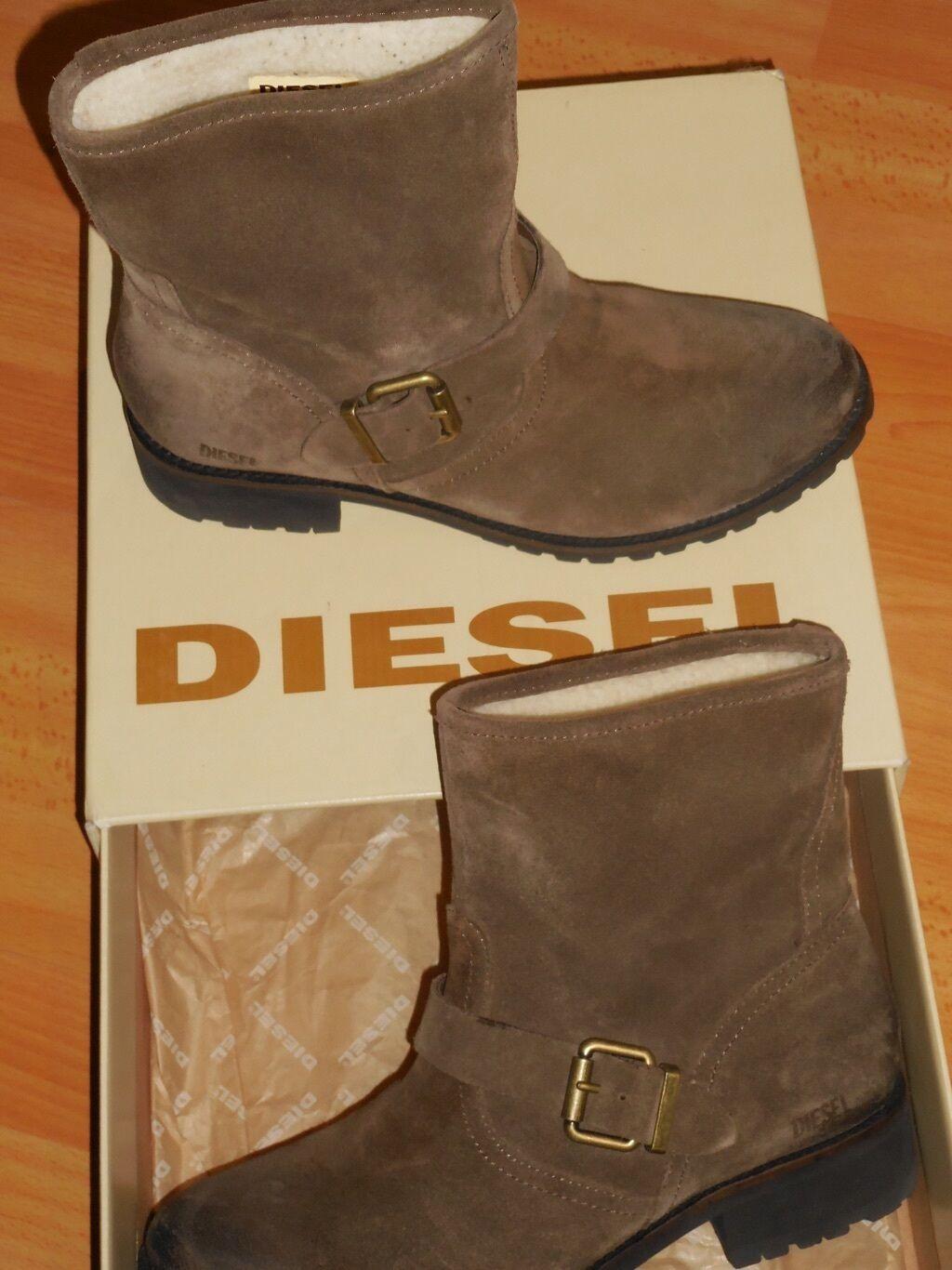 Diesel jean s stövlar läderkänga 38 -9 -9 -9 inlindad gosedy Mary  bästa valet