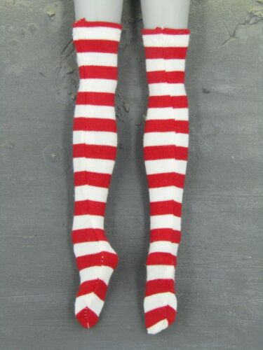 1//6 Scale Toy Female Sailor Lapin-Rouge /& Blanc Chaussettes à Rayures