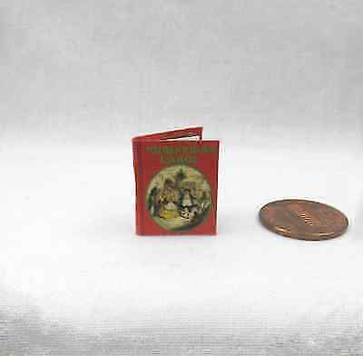1:12 SCALE MINIATURE BOOK A CHRISTMAS CAROL CHARLES DICKENS