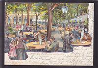 AK Litho Augsburg 1903 - Gasthof zu den drei Kronen
