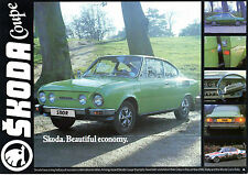 Skoda S110 R Coupe 1977-79 UK Market Leaflet Sales Brochure