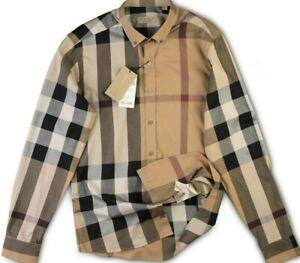 BURBERRY-Shirt-Mens-Nova-Brown-Checked-New-Casual-Genuine-L