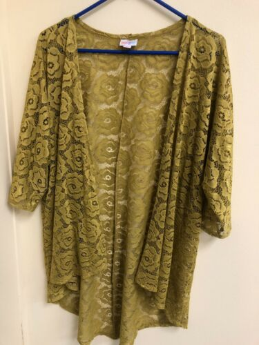 Size Duster Pattern Yellow Gold Mustard Lularoe S Cardigan Sweater