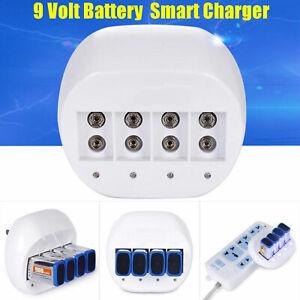9-Volt-4x-600mAh-Multipurpose-Battery-Charger-9V-Li-ion-Batteries-Rechargeable