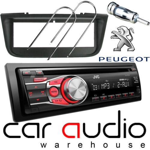 Peugeot 406 Jvc Cd Mp3 Aux En Rojo Pantalla Auto estéreo reproductor de radio y Kit de montaje