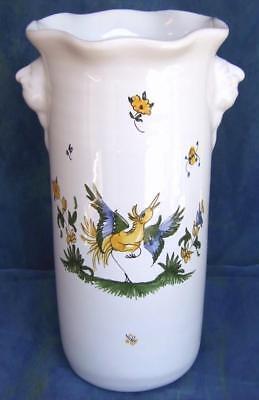 Gobelet verre à dents en FAIENCE de MOUSTIERS céramique peint main