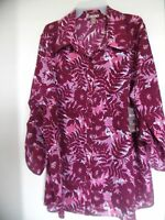 White Stag Multi-color 3/4 Sleeve Floral Woven Blouse - Size 2x (18w - 20w)
