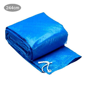8Ft BLUE PVC Round Swimming Paddling Pool Cover Easy Fast
