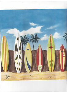 surf board beach tropical sand wallpaper border new arrival palm