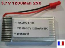 Accu batterie Lipo 3.7V 1200Mah 25C Hélicoptère RC Walkera 703160 Li-Po 1S JST