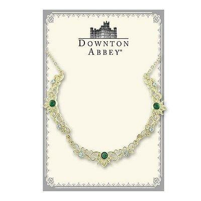 The Downton Abbey Collection Emerald Jewel Gold Scallop Necklace 17510