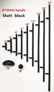 10mm-Black-Stainless-Steel-Kitchen-Door-Cabinet-T-Bar-Handle-Pull-Knob-2-034-24-039-039
