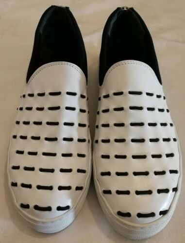 Zipper con taglia 44 Armani pelle 10 cerniera bianca Sneakers Uk in Eu Emporio dwZdqX