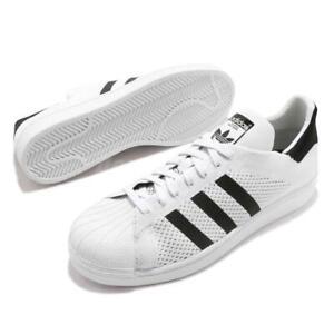 Adidas Originaux Superstar Baskets Hommes Primeknit Pk Blanc Noir Chaussures