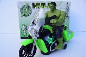 Avengers-Hulk-Figura-amp-Moto-Luz-Intermitente-y-Musica-Sonido-Bump-Nuevo-N-Go