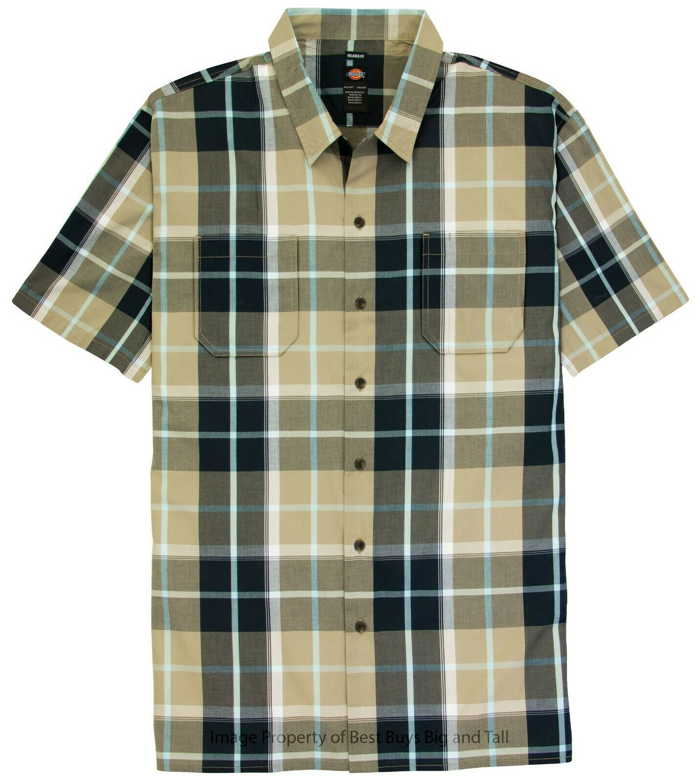 Kingsize Mens Big /& Tall Woven Camp Shirt