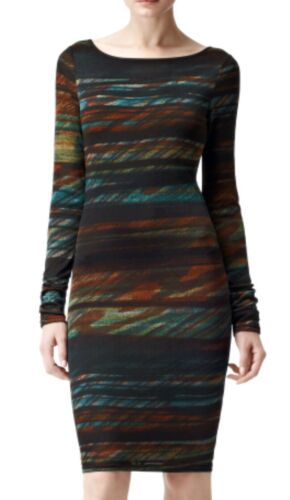 Sleeve New Size Length Dress Long Ruched M Knee brand Reiss Lori Designer wqz4FZIx