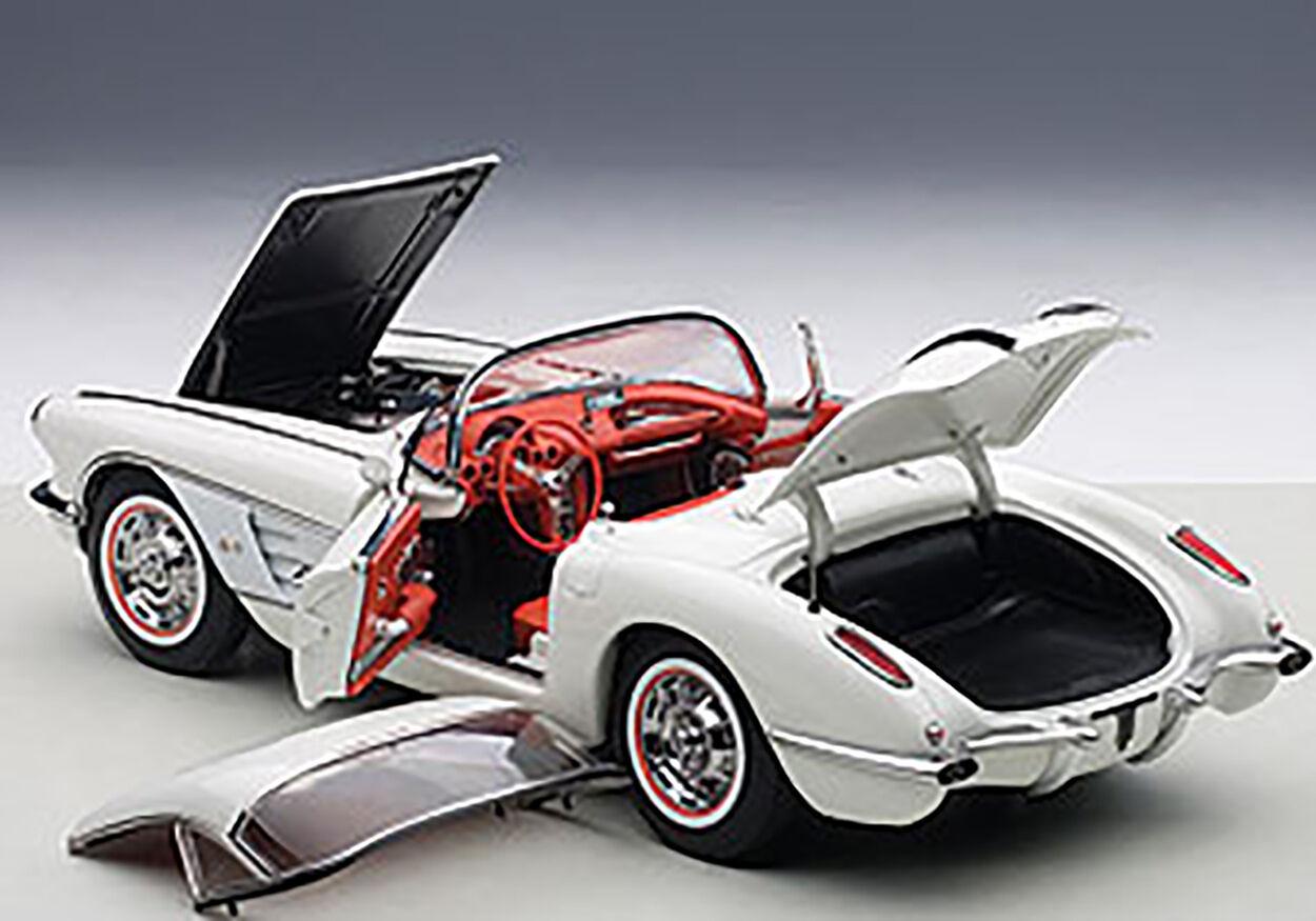 Autoart Chevrolet Corvette 1958 traviesa biancao en escala 1 18 Nuevo en Stock