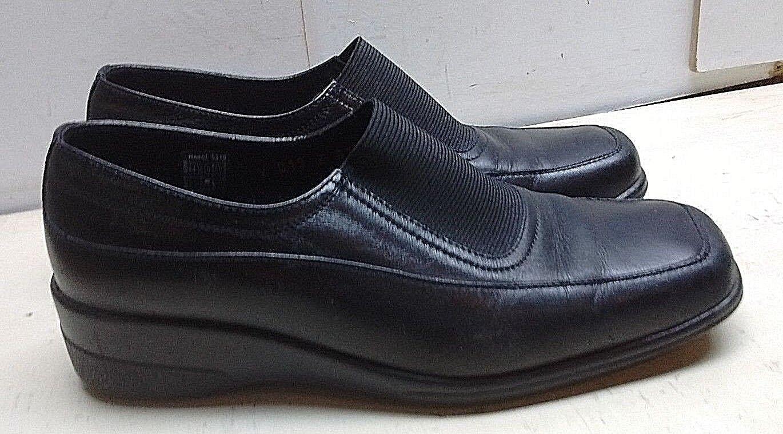 Boucherel Cuir noir Compensé Mocassin Robe Décontractée Confort chaussures femmes 6.5 M 37