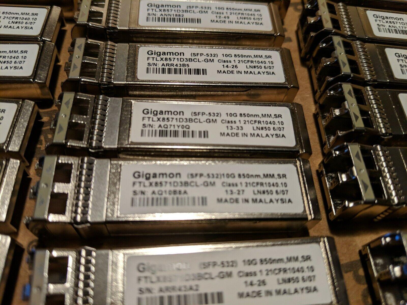 SR SFP Gigamon SFP-532 FTLX8571D3BCL-GM 10G 850nm MM transceiver w//60daysWRTY