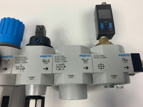 Festo Wartungseinheit Einschaltventil Druckaufbauventil CRM Filter