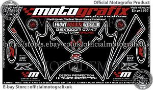 Suzuki GSXR 1000 07 - 08 Front Fairing Number Board Motografix 3D Gel Protector