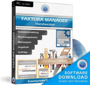 Handwerker Software Programm Angebote Auftrag Rechnung Rechnungsprogramm Faktura Ebay