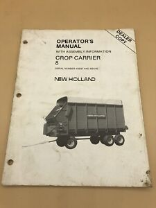 New-Holland-Operators-Manual-8-Crop-Carrier-Wagon-430397-Up-Assembly-Dealer-Copy