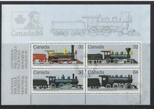 Kanada 1984 Eisenbahn Lokomotive Miniatur Blatt Fein Gebraucht