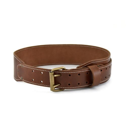 """Extra Long Work Belt Heavy Top Grain Leather Style n Craft  98439-3/"""" Tapered"""