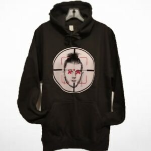 Men MGK Killshot Eminem Black Hoodie   Slim Shady Machine Gun Kelly ... 2a7fdb52eb7d